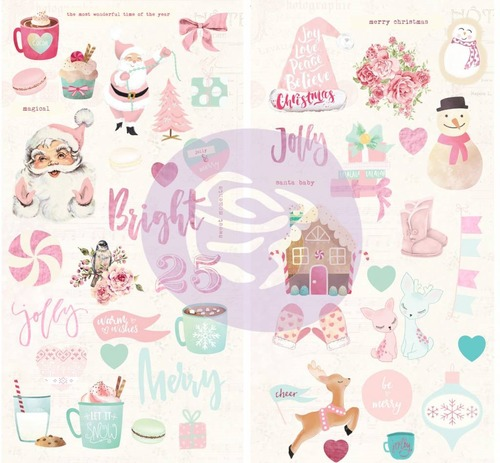 Papier Prima Marketing Santa Baby Chipboard Stickers