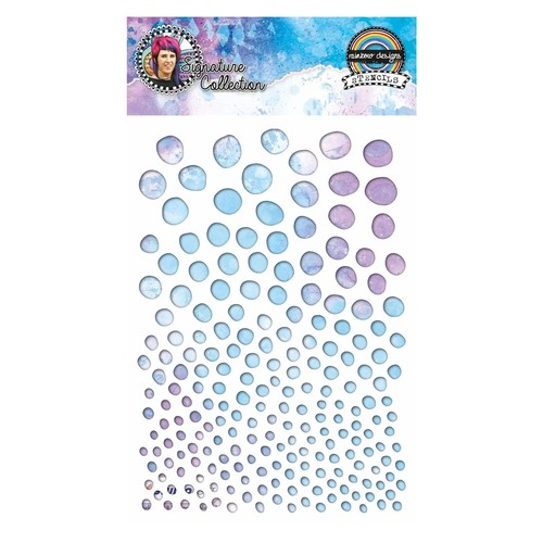 Template Studio Light Rainbow Design Bubbles No 05