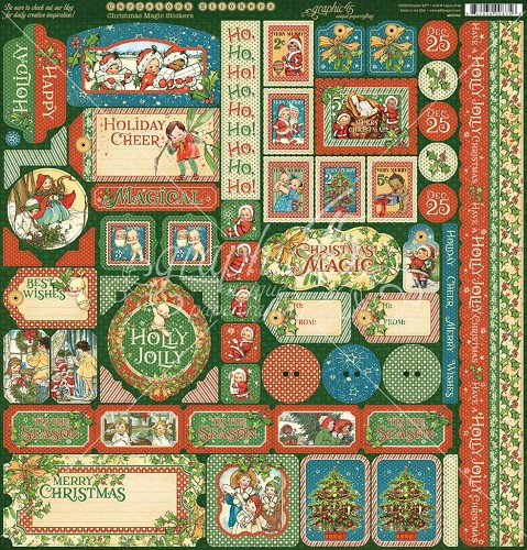 Papier Graphic 45 Christmas Magic Stickers