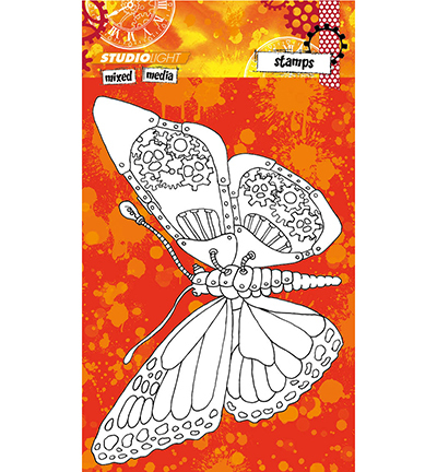 Stempel Studio Light Mixed Media Butterfly