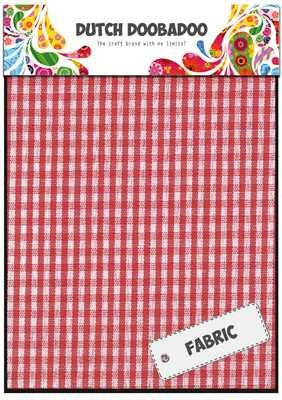 Dutch Doobadoo Fabric Sheets Rode Ruit