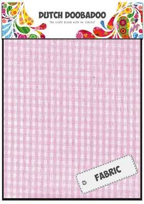 Dutch Doobadoo Fabric Sheets Roze Ruit