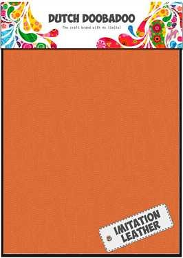 Dutch Doobadoo Fabric Sheets imitatieleer oranje