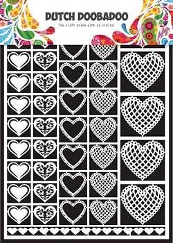 Dutch Doobadoo Paper Art Hearts