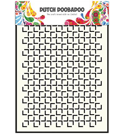 Dutch Doobadoo Mask Art  Geomatric Square