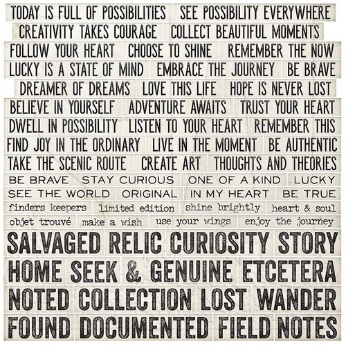 Tim Holtz Quote Chips
