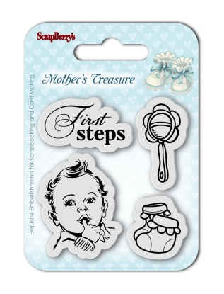 Stempel Scrapberry Mother`s Treasure First Steps