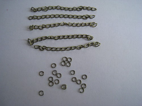 Ketting/jumprings Brons