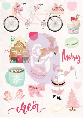 Papier Prima Marketing Santa Baby Puffy Stickers