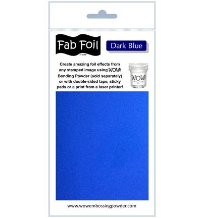 Mixed Media Hotfoil Dark Blue
