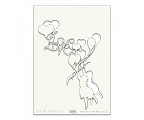 Template Clarity Stamps Girl Love Balloon