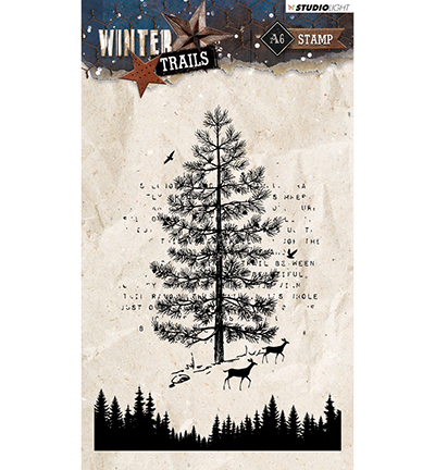 Stempel Studio Light Winter Trails No. 303 Boom