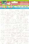 Darice Chipboard stickers Alphabet