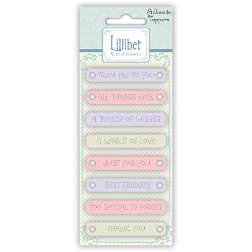 Embellishments Lillibet Sentiment Toppers Roze