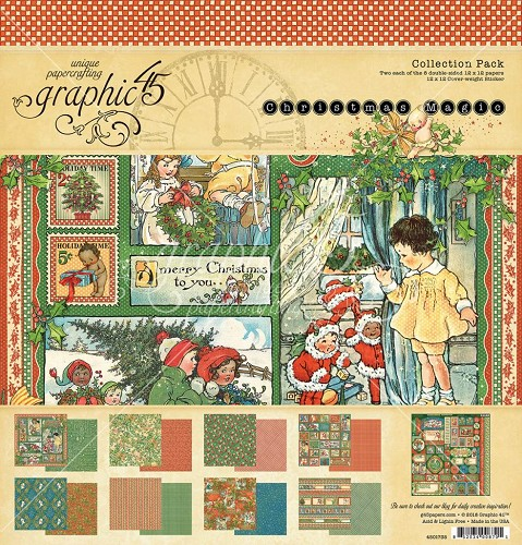 Papier Graphic 45 paperpad Christmas Magic 12x12
