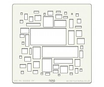 Template Clarity Stamps Abstract Squares