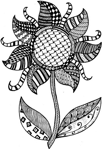Stempel Lindsay Mason Zendoodle Flower ready to Go