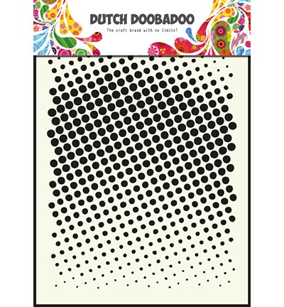 Template Dutch Doobadoo Faded Dots