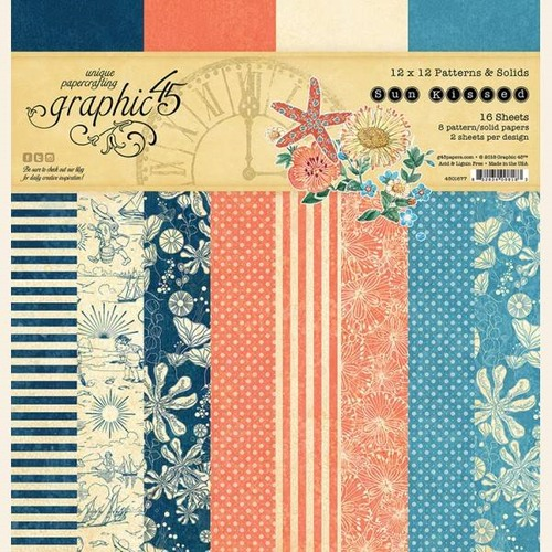 Papier Graphic45 Sun Kissed Pattern & Solids